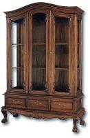 купить витрину, книжный шкаф со стеклом из массива, мебели индоезии в москве
