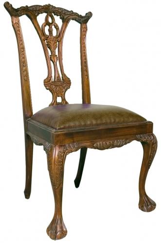 стул в английском стиле Чиппендейл, стул из массива, деревянный стул купить