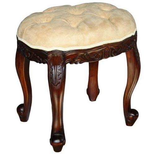 Каркас пуфа выполнен из массива натурального красного дерева (махагон).